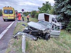 Dopravu ve znojemské Pražské ulici zkomplikovala nehoda.