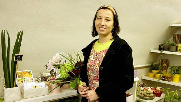 Floristka Klára Jordánová ze Znojma.