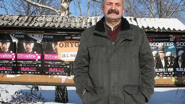 Bývalý starosta Hevlína Drahomír Nosek.