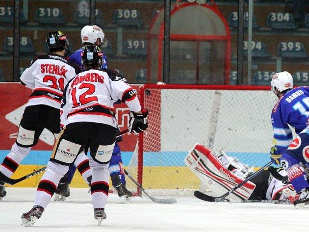 Znojemští Orli v utkání s Villachem.