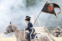 Rekonstrukce napoleonské bitvy z roku 1809 u Dobšic.