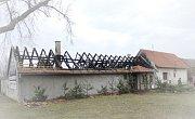 Požár rodinného domu v Litobratřicích.