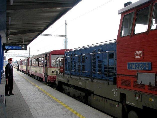 V sobotu krátce po desáté hodině dopolední přijel na znojemské vlakové nádraží cyklovlak s názvem Velo Podyjí.