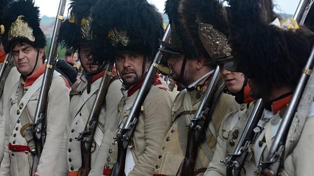 Rekonstrukce bitvy u Znojma, jež byla součástí napoleonských válek.