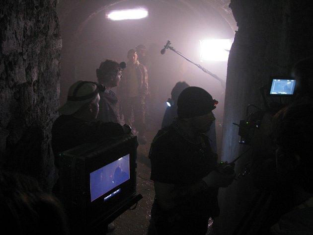 Poslední den natáčení filmu Labyrint ve znojemském podzemí