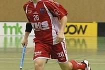 Hráč juniorského týmu TJ VHS Znojmo Vojtěch Procházka.
