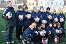 Libor Palička s týmem mladších žáků