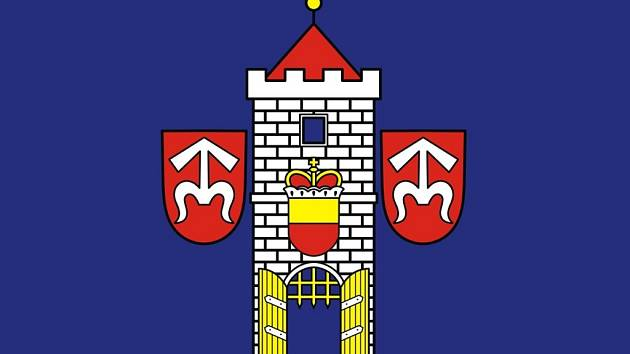 Vlajka Moravského Krumlova