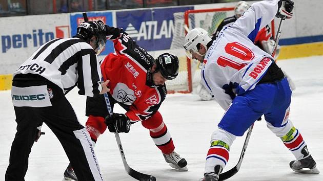Znojemští Orli v utkání s Třebíčí - ilustrační fotografie.