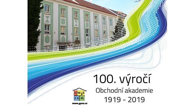 Logo oslav století obchodní akademie