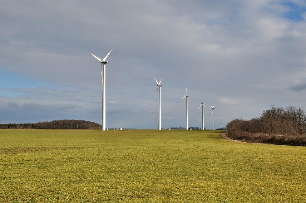 Největší větrný park na jižní Moravě u Břežan na Znojemsku