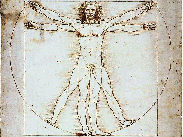 Vitruvianský muž Leonarda Da Vinciho
