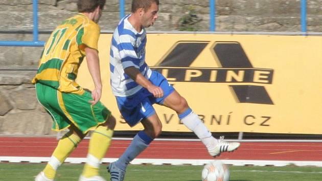 MSFL: 1. SC Znojmo (v modrobílém) vs. FK Mutěnice