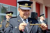 Hasiči slavnostně otevřeli svoji novou centrální stanici ve Znojmě. Mezi hosty byli i jejich kolegové z Rakouska.