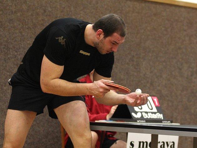 Třiačtyřicet hráčů se zúčastnilo turnaje ve stolním tenisu nazvaného Přebor regionu Znojmo ve stolním tenise mužů pro rok 2012.