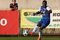 V prvním kole Fortuna národní lize se střetly celky 1. SC Znojmo FK (v modrém) - FK Varnsdorf.