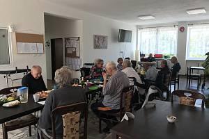 Společné prostory pro členy spolku v obci Práče.