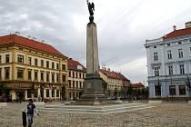 Komenského náměstí ve Znojmě. Ilustrační foto.