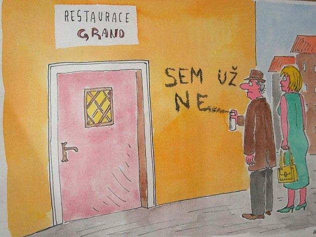 Výstava Gastronomických grotesek zve na festival Znojemský hrozen.