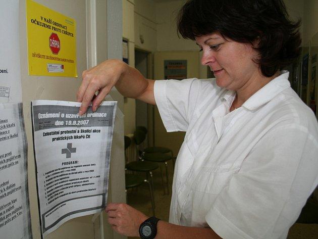 Protestu se na Znojemsku zúčastnili téměř všichni praktici a pediatři