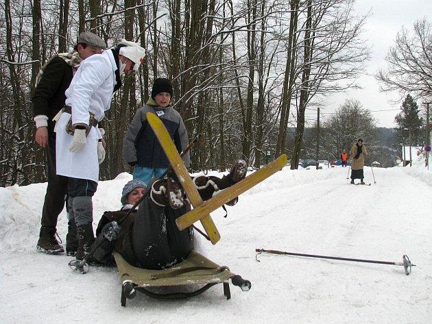 Ve Vranově nad Dyjí soutěžili lyžníci.