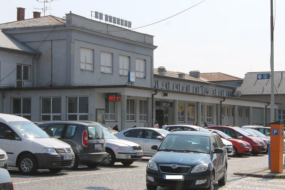 Vlakového nádraží v Břeclavi.