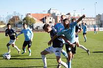 Fotbalisté Znojma (modří) hostili ve 13. kole MSFL B-tým Slovácka.
