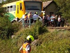 Srážka auta s vlakem u Žerůtek skončila tragicky.