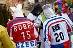Pestrý masopust oslavili v sobotu v Jezeřanech Maršovicích. Foto: archiv obce