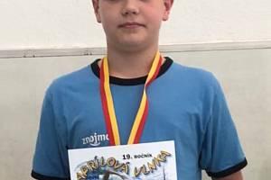 Plavec znojemské TJ Nikolas Jordán uspěl před domácím publikem na závodech Aprílová vlnka.