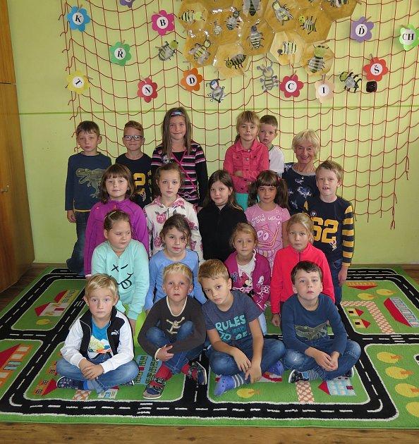 Žáci 1.třídy ZŠ Vranov nad Dyjí spaní učitelkou Martou Vincourovou.