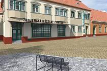 Ulice Hradní a prostor v okolí znojemského pivovaru dostane šatovskou dlažbu. Zvýrazněné budou i základy bývalé Loupežnické věže.