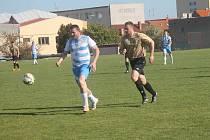 Fotbalisté Přímětic v zápase proti Rajhradicím.