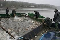Rybáři ukončili výlov největšího rybníku na Znojemsku - Zámeckého v Jaroslavicích.