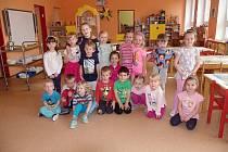 Děti ze třídy Včeliček v MŠ Pražská ve Znojmě.