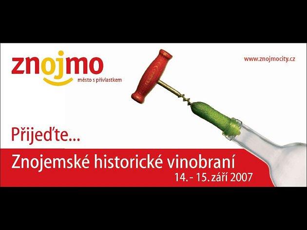 Reklamní billboard lákající na znojemské vinobraní