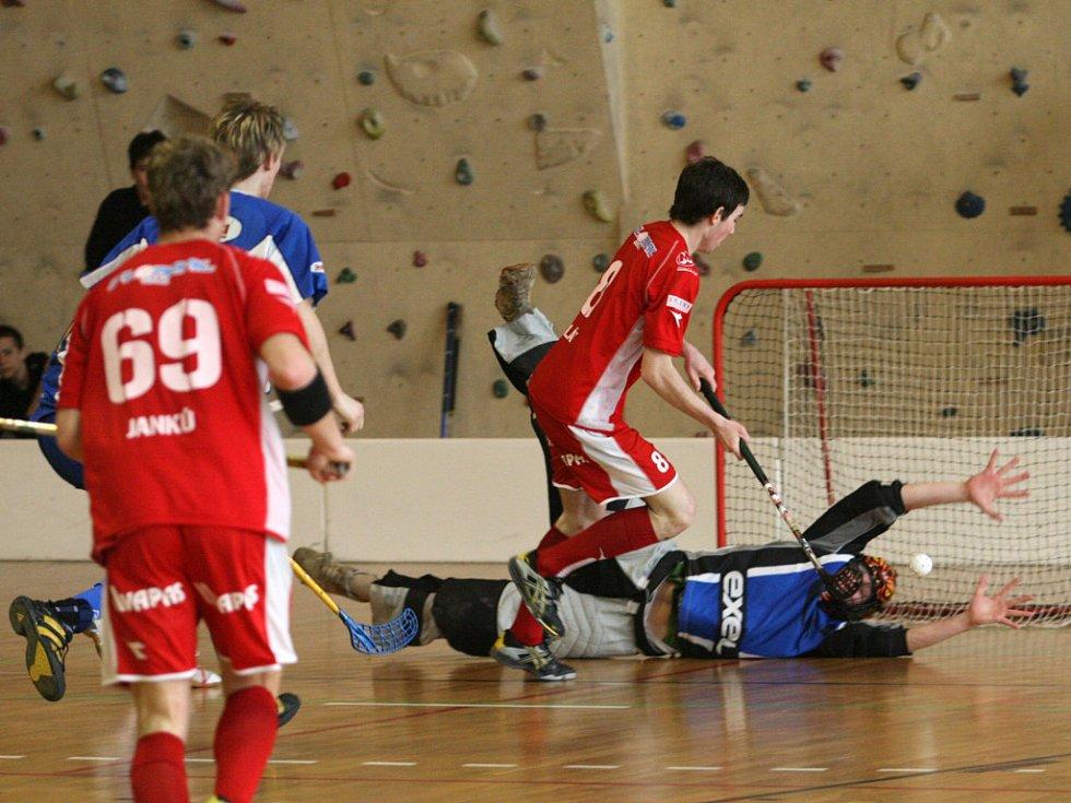 Semifinále 1. florbalové ligy Znojmo - Pelhřimov