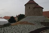 Nové okolí znojemské rotundy.