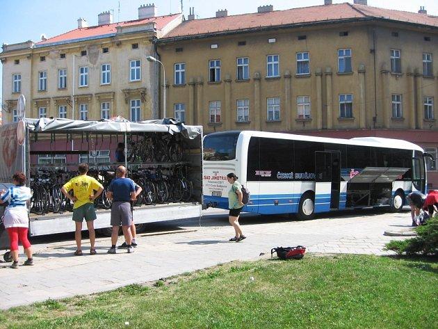 Cyklobus z Českých Budějovic.