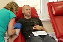 Znojemští hokejisté darovali krev.