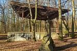 Současný stav pódia v lesíku a jeho okolí.