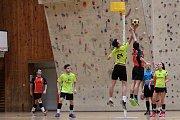 Korfbalisté extraligového Znojma (žlutí) neprožívají šťastnou sezonu. Letos ani jednou nevyhráli a v tabulce jsou poslední. Naposledy padli doma proti Brnu 22:23.