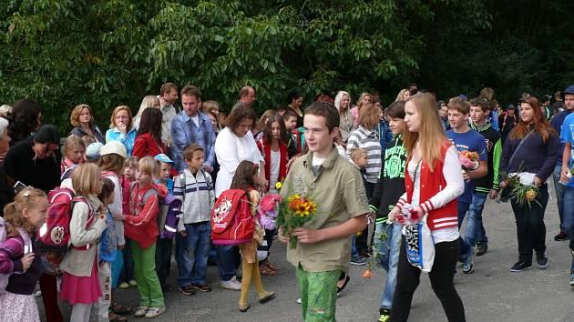 Podobně jako v celé republice přivítala i základní škola ve Vranově nad Dyjí nové prvňáčky.