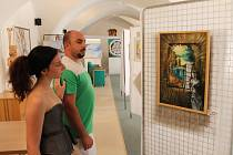 Znojemští výtvarníci vystavují až do 7. srpna své obrazy a plastiky. Dočasnou galerií se stala zasedací místnost znojemské radnice.