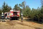 Mezi Pavlicemi a Vranovskou Vsí vzplálo sedm hektarů lesa.