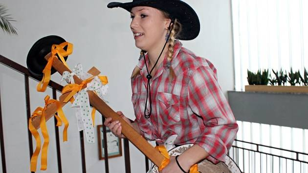 Zábavu pro desítku klientů znojemského Tyflocentra připravili studenti střední školy v Přímětické ulici ve Znojmě.