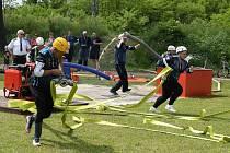 Z okrskové soutěže hasičů v Boroticích.