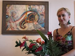 Až do konce července mohou lidé obdivovat obrazy Evy Toulové, a to v galerii Knížecího domu v Moravském Krumlově.