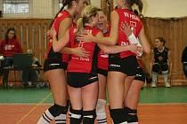 Znojemské juniorky v neděli přivítaly v rámci sedmnáctého a osmnáctého kola nejvyšší juniorské soutěže u nás třetí tým tabulky VK Slavia VŠ - SG Plzeň.
