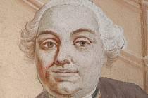 Malíř Jan Lukáš Kracker, portrét z výmalby kostela sv. Petra a Pavla v Nové Říši.